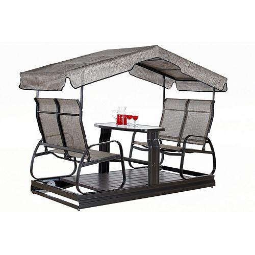 Sojag Eco 4-Seater Garden Swing in Dark Brown