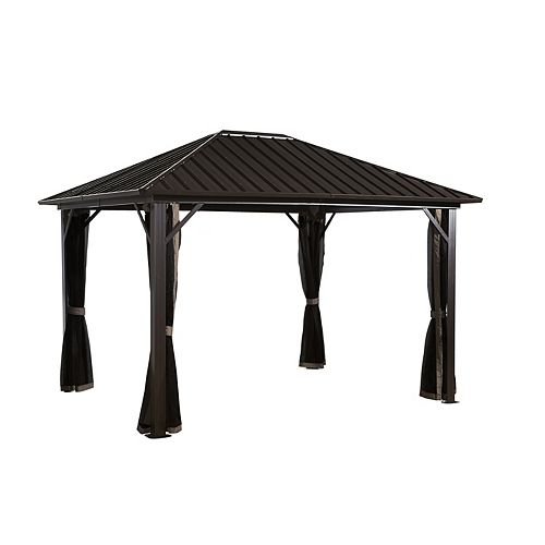 Genova 10 ft. x 14 ft. Sun Shelter in Dark Brown