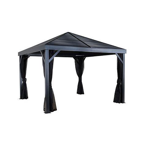 Sanibel 10 ft. x 10 ft. Sun Shelter in Grey