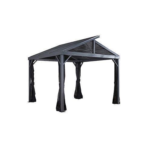 Sanibel II 10 ft. x 10 ft. Sun Shelter in Grey