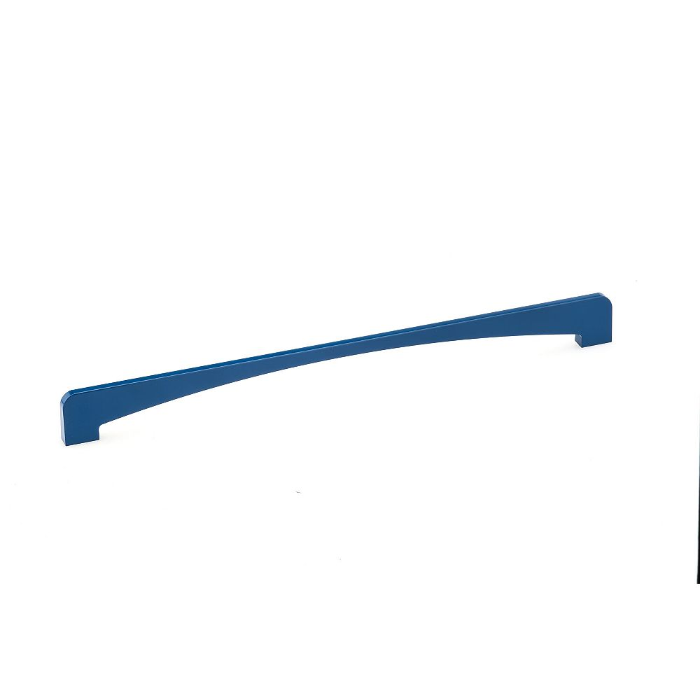 Richelieu Cosenza Collection 13 7/8-inch (352 mm) Center-to-Center Blue Contemporary Cabinet Pull