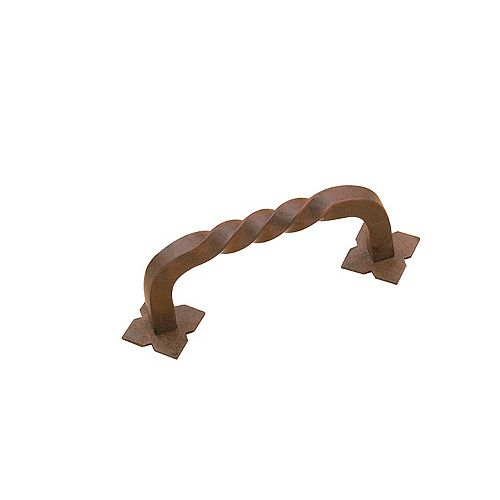 Richelieu 3 in (76.2 mm) Center-to-Center Antique Rust Traditional Cabinet Pull