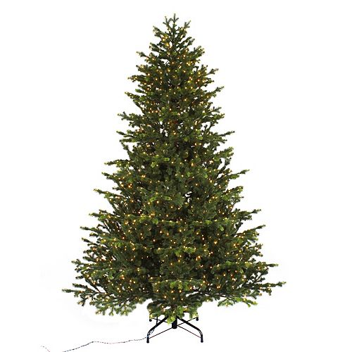7.5 ft. 1500 Micro-Dot LED-Lit Norway Spruce LED Christmas Tree with Timer