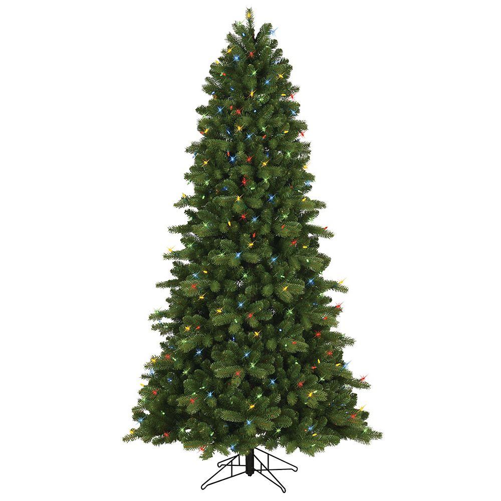 GE Arbre de Noël épinette Colorado à 400 ampoules à DEL, 2 modes de couleur, 7,5 pi