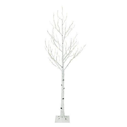 72-inch Pre-Lit 128-LED Birch Tree in Warm White