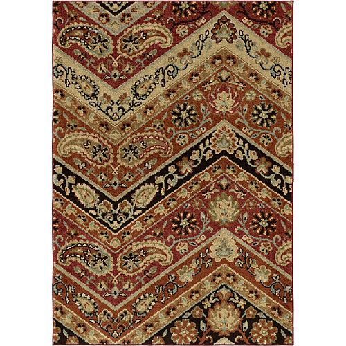 Paisley Point Rouge 5 ft. 3-inch x 7 ft. 6-inch Indoor Area Rug