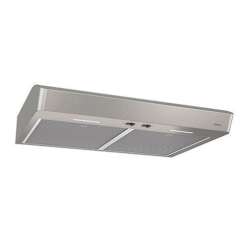 Broan-NuTone 30 inch 375 Max CFM Under Cabinet Range Hood in Stainless Steel