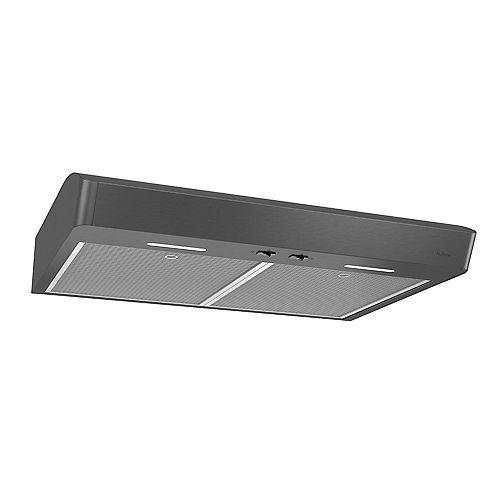 Broan-NuTone 30 inch 375 Max CFM Under Cabinet Range Hood in Black Stainless Steel