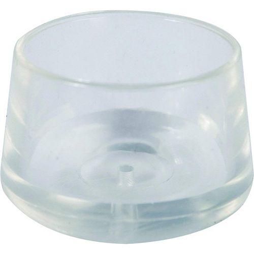 Everbilt Embouts de jambe transparents, 22 mm, paquet de 4