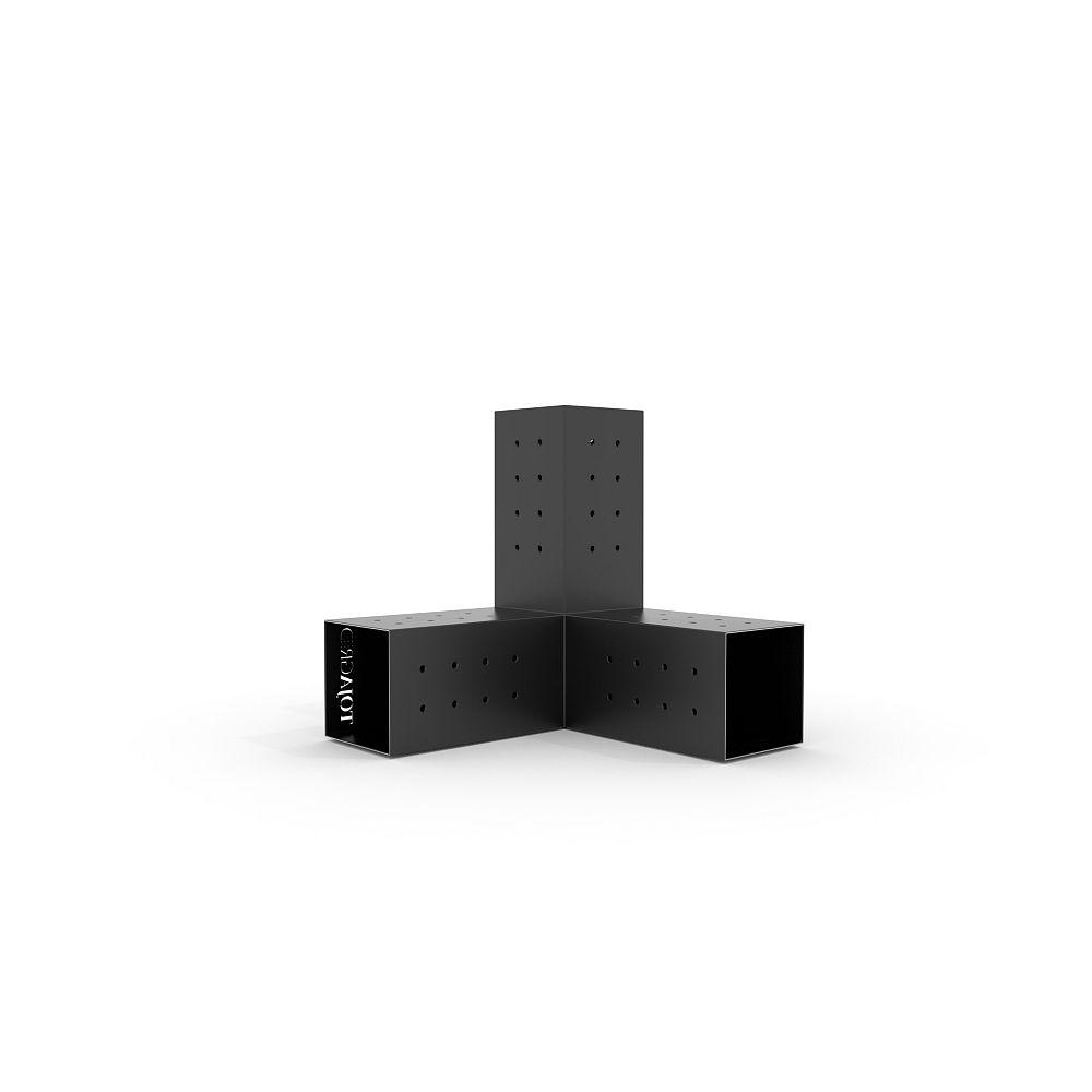 TOJAGRID Trio Corner Brackets for 4x4 Wood Posts (2-Pack)
