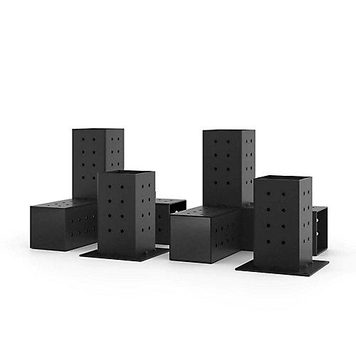 Quad Paquet De 2 Supports D'extension Pour Poteaux De Bois 4x4