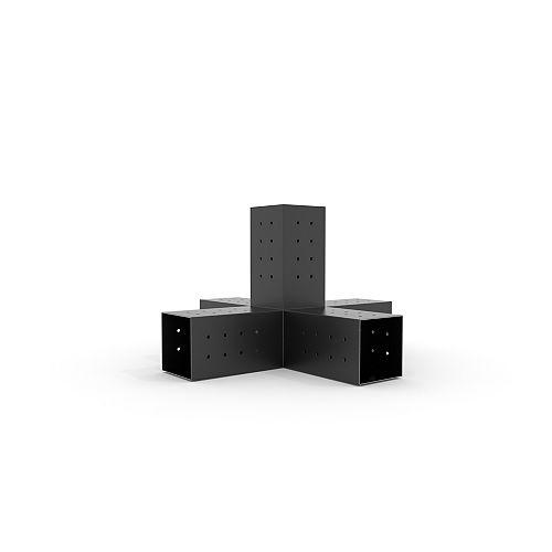 TOJAGRID Quint Room Builder Bracket For 4x4 Wood Posts
