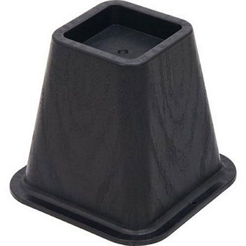 5-1/4 -Inch Molded Bed Risers, Black Finish (4-Pack)