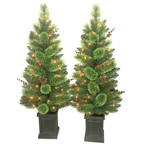 18-inch Dia Savannah Berry Porch Tree (Set of 2)