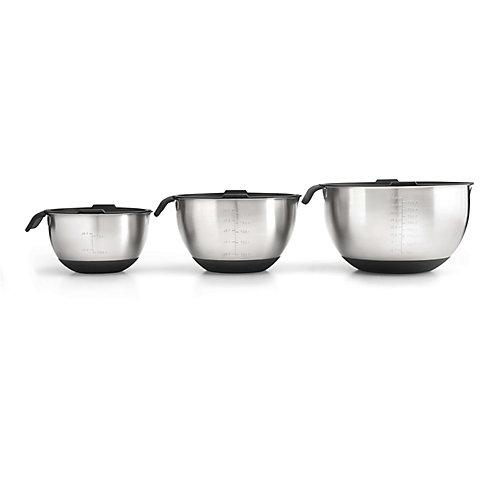 3-Piece Marinating Bowl Set