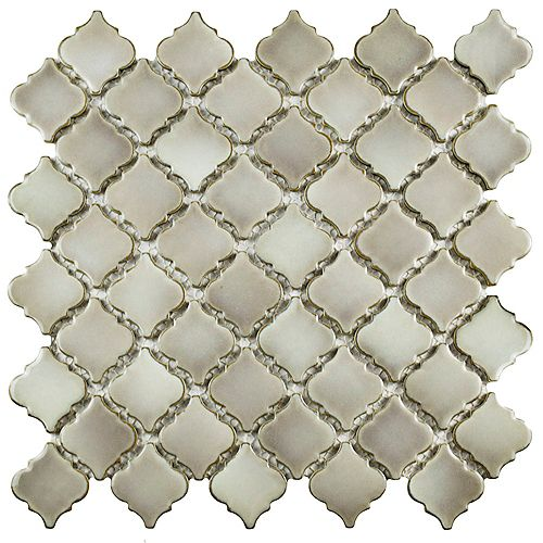 Merola Tile Hudson Tangier Dove Grey 12-3/8-inch x 12-1/2-inch x 5 mm Porcelain Mosaic Tile(10.96 sq.ft. / case)