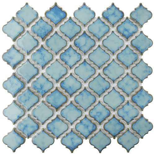 Hudson Tangier Marine 12 3/8-inch x 12 1/2-inch x 5 mm Porcelain Mosaic Tile (10.96 sq. ft. / case)
