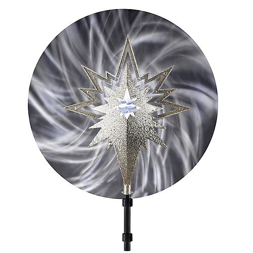 Projection Champagne Tree Topper with Light Ribbon