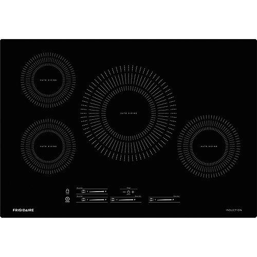 Table de cuisson à induction de 30 pouces avec 4 éléments en noir