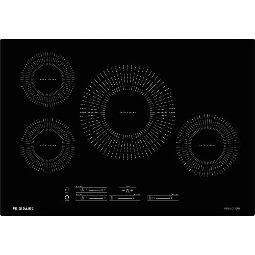 30-inch Induction Cooktop with 4 Elements in Black