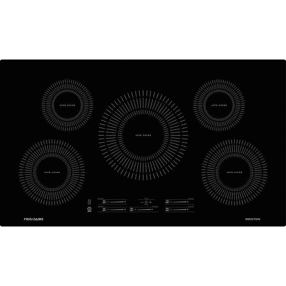 Frigidaire 36-inch Induction Cooktopwith 5 Elements in Black
