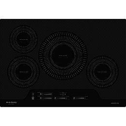 Table de cuisson à induction électrique lisse de 30 pouces avec 4 éléments en noir