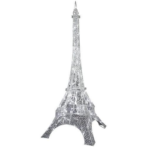 LED Crystal Swirl Silver Eiffel Tower Decoration