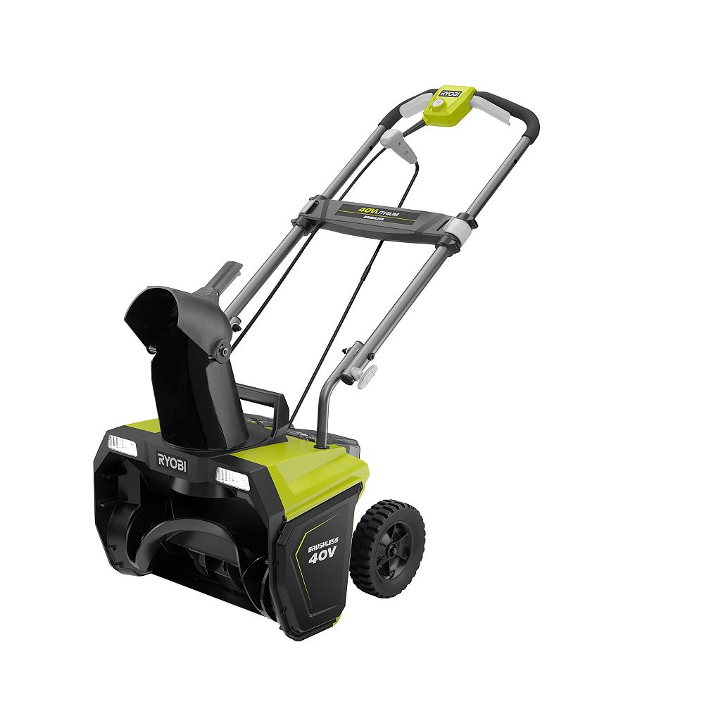 RYOBI 20-inch 40-Volt Brushless Cordless Electric Snow Blower with 5.0 Ah Battery and Charger