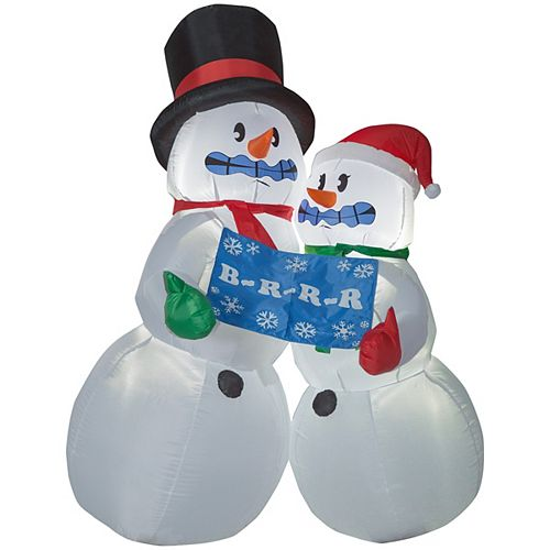 6 ft. Airblown Inflatable Shivering Snow Couple