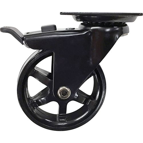 Designer Premium Series 3-In Mag Designer Casters, Black Bling w/ Total Lock Brake