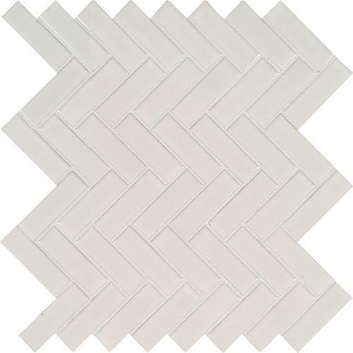 MSI Stone ULC Retro Herringbone Bianco 10.83-inch x 12.2-inch x 6mm Porcelain Mesh-Mounted Mosaic Tile