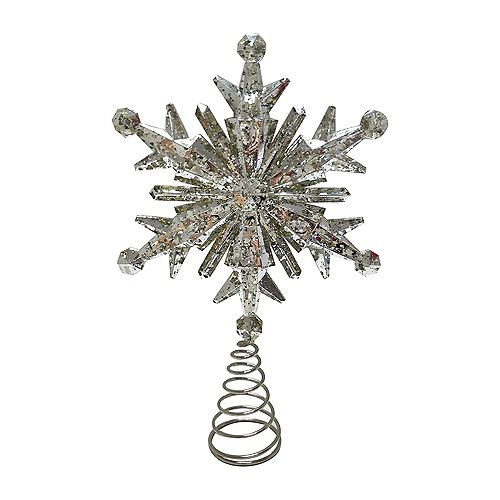 Home Accents 13-inch Mercury Snowflake Tree Topper