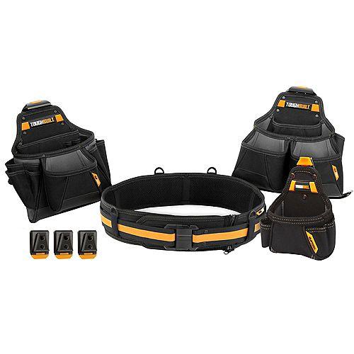 TOUGHBUILT Ensemble ceinture porte-outils 4 morceaux pour entrepreneur