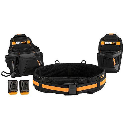 TOUGHBUILT Ensemble ceinture porte-outils 3 morceaux pour commerçant