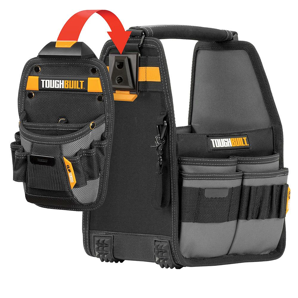 TOUGHBUILT 8-inch Tote + Pouch with ClipTech