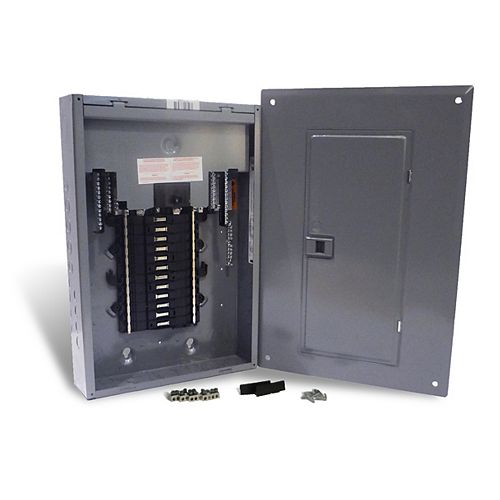100 Amp Main Breaker Only Plug-on Neutral Loadcentre with 24 Spaces, 44 Circuits Maximum