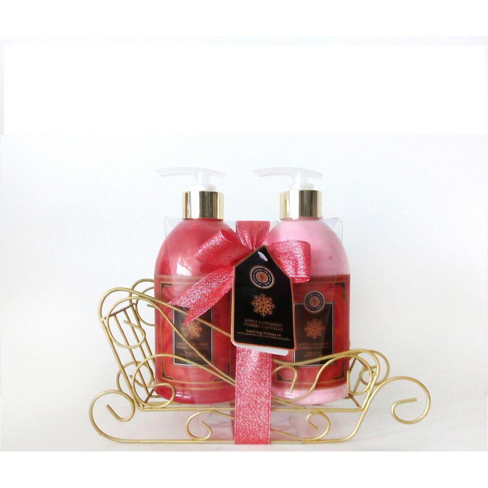 BIOLAB Panier-cadeau des Fêtes avec savon et lotion pour les mains, cannerberge