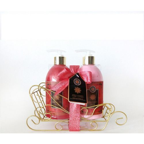 BIOLAB Cranberry Scented Holiday Hand Soap and Lotion Caddy Set