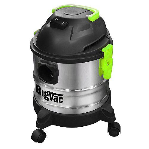 4 Gallon Wet/Dry Stainless Steel  Vacuum