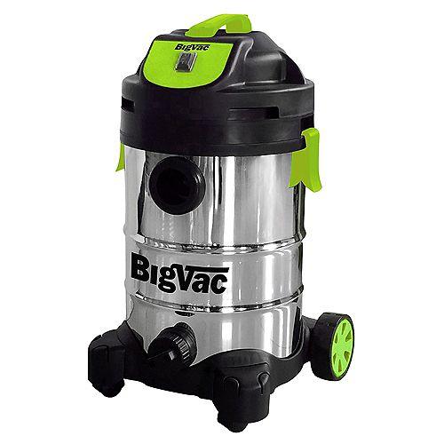 8 Gallon Wet/Dry Stainless Steel  Vacuum