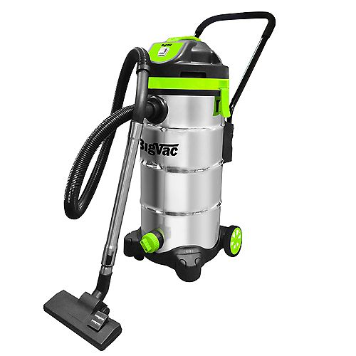 12 Gallon Wet/Dry Stainless Steel  Vacuum