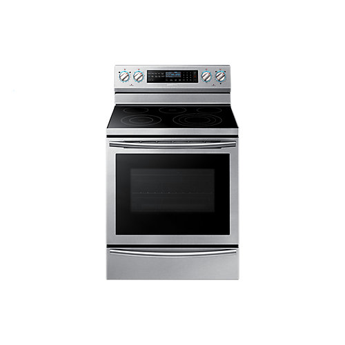 30-inch 5.9 cu.ft. Single Oven Electric Range with Self-Cleaning Convection Oven in Stainless Steel