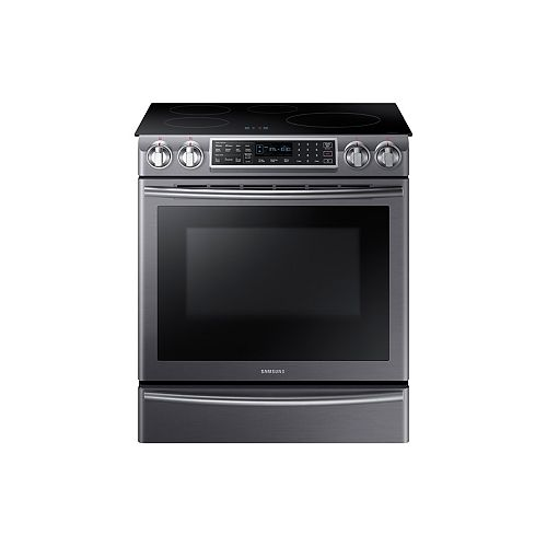 5.8 cu. ft. Induction Range with Self-Cleaning Convection Oven and Wi-Fi in Black Stainless Steel