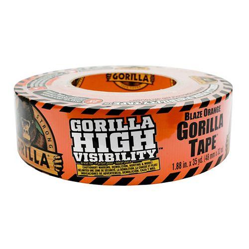 Gorilla Blaze Orange High Visibility Tape 35 yd