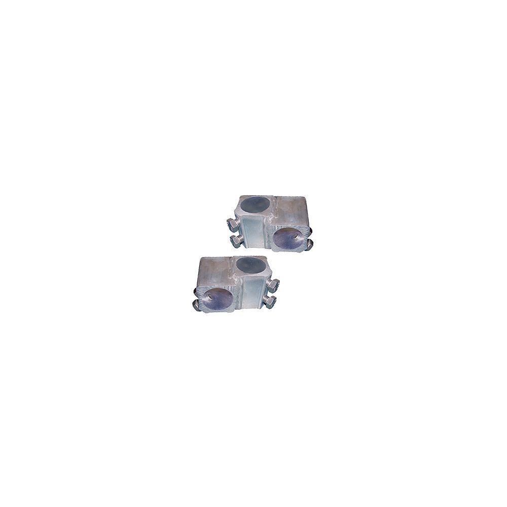 Multinautic Paire (2) Adapteurs en T en aluminium pour pieux de 1-11/16 po