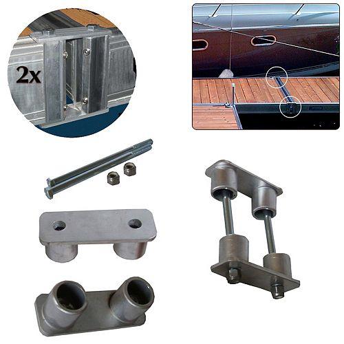 Multinautic Pair (2) Fusion Connectors for QP-454, QP-475 and QP-500 Aluminum Docks