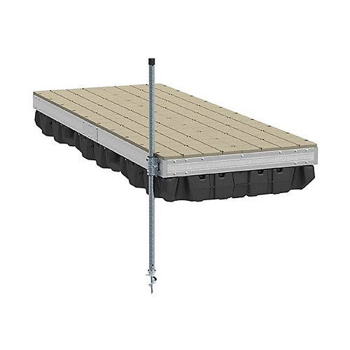 Aluminum Floating Dock Kit with Resin Top - 4 ft.x10 ft.