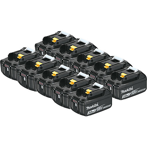 18V (3.0 Ah) Li-Ion Battery, 194288-3 (10-Pack)