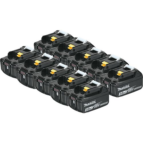 MAKITA 18V (3.0 Ah) Li-Ion Battery, 194288-3 (10-Pack)
