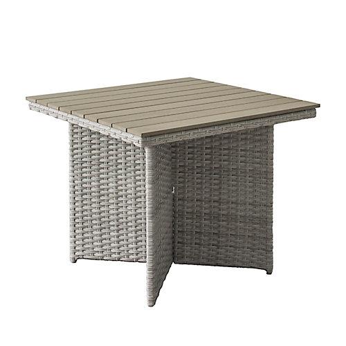 Table pour patio Brisbane en osier de résine résistant aux intempéries